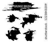 vector set of grunge brush... | Shutterstock .eps vector #1223843209