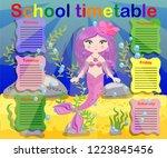 school timetable template for... | Shutterstock .eps vector #1223845456