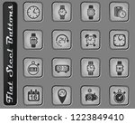 time vector web icons on the...