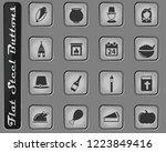 thanksgiving vector web icons...   Shutterstock .eps vector #1223849416