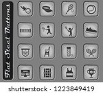 tennis vector web icons on the... | Shutterstock .eps vector #1223849419
