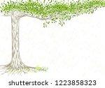 sketch for poster environment... | Shutterstock .eps vector #1223858323
