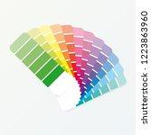 color palette guide on grey...   Shutterstock .eps vector #1223863960