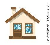broken window. ruined house.... | Shutterstock .eps vector #1223865193