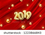 happy new 2019 year. vector... | Shutterstock .eps vector #1223866843