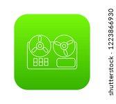 reel tape recorder icon green... | Shutterstock .eps vector #1223866930