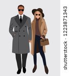 vector fashion illustration of... | Shutterstock .eps vector #1223871343