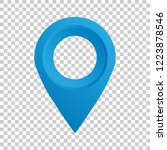 pin map icon in flat style. gps ... | Shutterstock .eps vector #1223878546