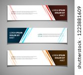 stock vector banner label...   Shutterstock .eps vector #1223881609