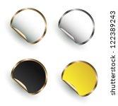 set of labels | Shutterstock .eps vector #122389243