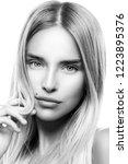 beauty portrait of fashion... | Shutterstock . vector #1223895376