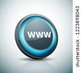 www internet button illustration | Shutterstock .eps vector #1223898043