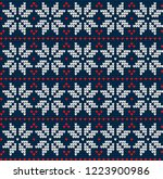 knitted christmas and new year...   Shutterstock .eps vector #1223900986