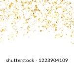 gold shiny realistic confetti... | Shutterstock .eps vector #1223904109