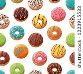 pattern of vector colorful... | Shutterstock .eps vector #1223915533