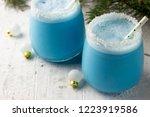 blue curacao christmas cocktail ... | Shutterstock . vector #1223919586