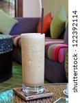 Cold fresh ice coffee - stock photo
