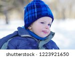 Winter Portrait Of A Cute ...