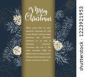 christmas sketch hand drawn... | Shutterstock .eps vector #1223921953