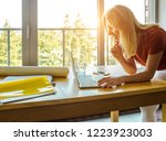 searching for fresh ideas. full ... | Shutterstock . vector #1223923003