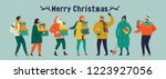 merry christmas and happy new... | Shutterstock .eps vector #1223927056