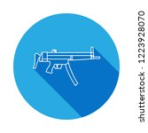weapon automat line icon with...