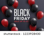 black friday sale banner with... | Shutterstock .eps vector #1223928430