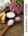 spa settings on straw mat | Shutterstock . vector #122393683