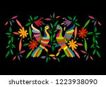 ethnic mexican tapestry with... | Shutterstock .eps vector #1223938090