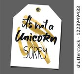 funny gift tag. lettering ... | Shutterstock .eps vector #1223949433