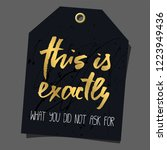 funny gift tag. lettering ... | Shutterstock .eps vector #1223949436