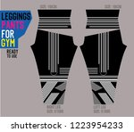 leggings pants for gym with mold | Shutterstock .eps vector #1223954233