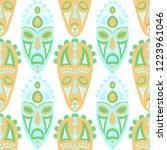seamless background. indian... | Shutterstock .eps vector #1223961046