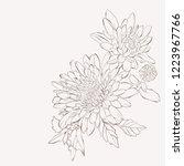 Vector Dahlia Flower. Autumn...
