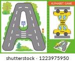 children board game of alphabet ... | Shutterstock .eps vector #1223975950