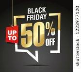 black friday 50 percent off... | Shutterstock .eps vector #1223977120