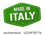 made in italy label or sticker... | Shutterstock .eps vector #1223978776
