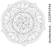 adult coloring book page a zen... | Shutterstock .eps vector #1223991946
