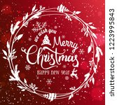 merry christmas and new year... | Shutterstock .eps vector #1223995843