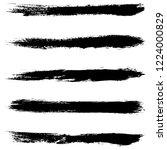 set of 5 pieces grunge edges... | Shutterstock .eps vector #1224000829
