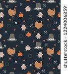 thanksgiving seamless pattern... | Shutterstock .eps vector #1224006859