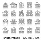 house thin line icons set.... | Shutterstock .eps vector #1224010426