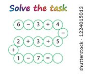 worksheet. mathematical puzzle... | Shutterstock .eps vector #1224015013