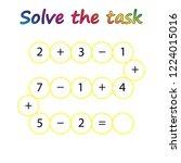 worksheet. mathematical puzzle...   Shutterstock .eps vector #1224015016