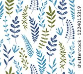 seamless pattern of branches... | Shutterstock .eps vector #1224015319