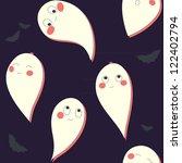 cute ghost | Shutterstock .eps vector #122402794