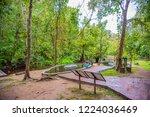image of people sit in water... | Shutterstock . vector #1224036469