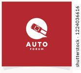 auto forum logo  driver chat... | Shutterstock .eps vector #1224036616