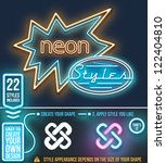 neon graphic styles. vector | Shutterstock .eps vector #122404810