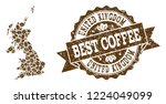 compositions of coffee map of... | Shutterstock .eps vector #1224049099